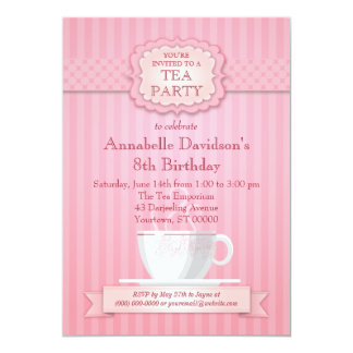 Pink Tea Party Invitation