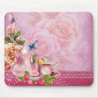 Pink Tea Party Mouse Pad