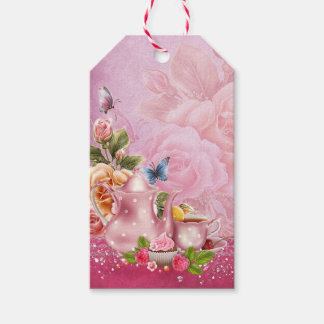 Pink Tea Party Pack Of Gift Tags