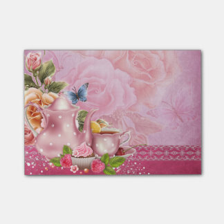 Pink Tea Party Post-it® Notes