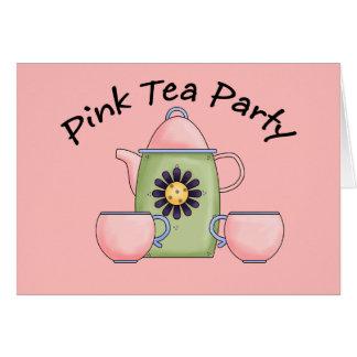 Pink_Tea_Party Tarjeta De Felicitación