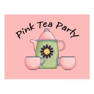 Pink_Tea_Party Tarjeta Postal