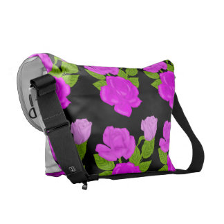 Pink Tea Rose Courier Bag
