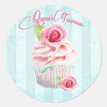 Pink Tea Rose Envelope or Gift Seals Sticker