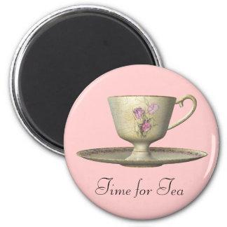 Pink Tea Time Magnet