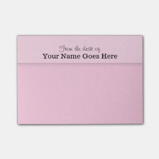 Pink teachers name desk note organizer