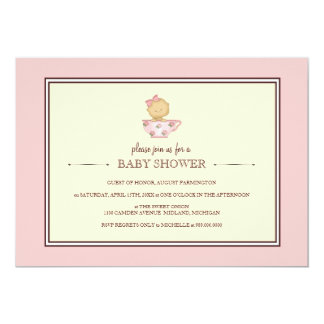 Pink Teacup Baby Shower Invitations {for a girl}