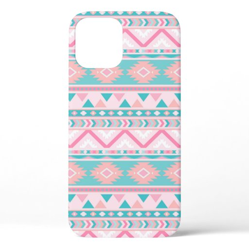 Pink Teal Art Pattern Mosaic Southwest Phone Case
