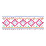 Pink teal Aztec Tribal Diamond geometric Pattern Business Card