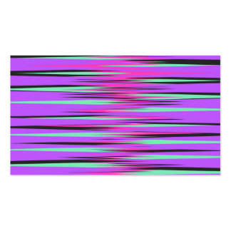 Pink, Teal, Black, & Purple Stripes Business Cards