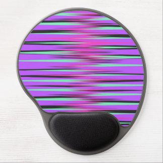 Pink, Teal, Black, & Purple Stripes Gel Mousepad