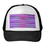 Pink, Teal, Black, & Purple Stripes Mesh Hats