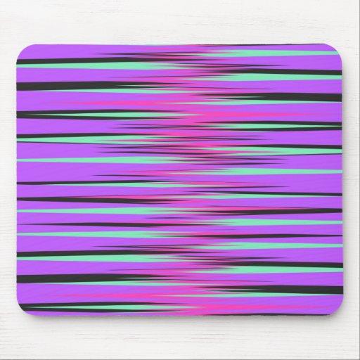 Pink, Teal, Black, & Purple Stripes Mouse Pads