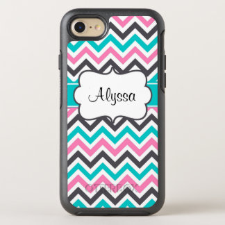 Pink Teal Chevron OtterBox Symmetry iPhone 7 Case