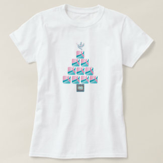 PINK & TEAL Christmas Tree! T-Shirt