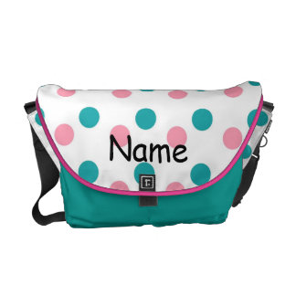 PINK & TEAL DOTTED BABY  or MESSENGER BAG TEMPLATE