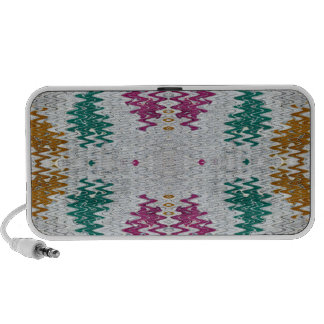 pink teal gold grey  abstract travel speaker