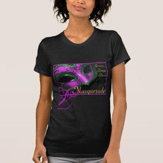Pink & Teal Masquerade Ladies Halloween T-Shirt