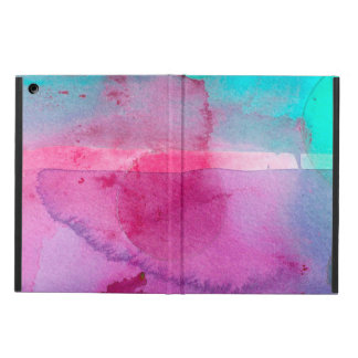 Pink Teal Purple Ombre Watercolor iPad Air Cases