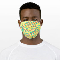 Pink-Teal Standard Ribbon by Kenneth Yoncich Adult Cloth Face Mask