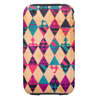 Pink Teal Triangles iPhone 3 Tough Cover