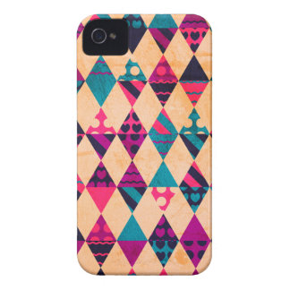 Pink Teal Triangles iPhone 4 Covers