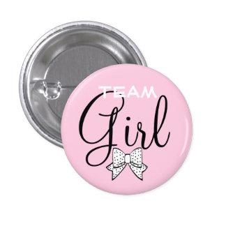 Pink Team Girl Baby Shower Game 1 Inch Round Button