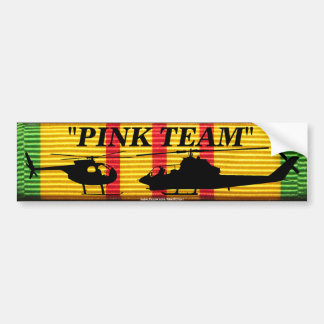 """Pink Team"" on VSM Ribbon Bumper Sticker"