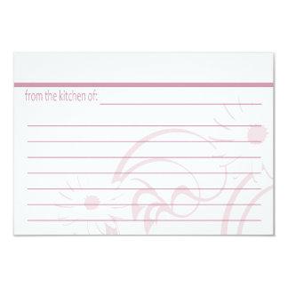 Pink Teapot and Daisy Recipe Cards Invitation