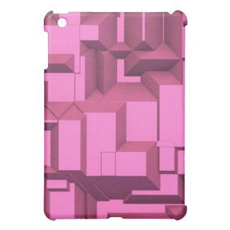 Pink Techno Chunky Cubes iPad Mini Cover