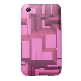 Pink Techno Chunky Cubes iPhone 3 Cover