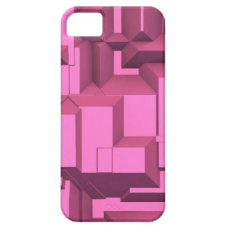 Pink Techno Chunky Cubes iPhone SE/5/5s Case