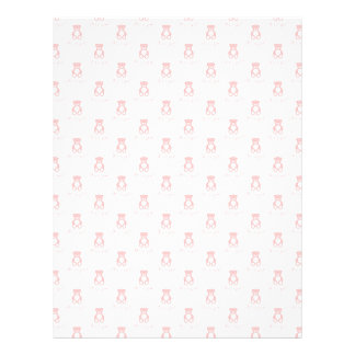 Pink Teddy Bear and Polka Dot Scrapbooking Paper