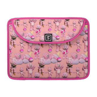 Pink Teddy Bear and Toys MacBook Pro Sleeve
