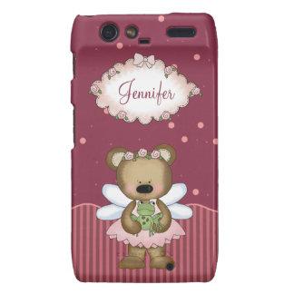 Pink Teddy Bear Fairy Princess Droid RAZR Cover
