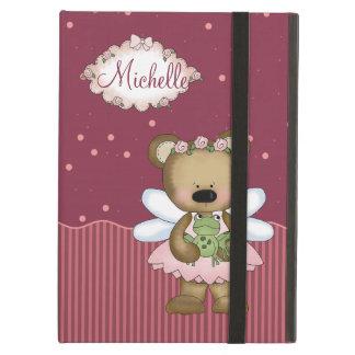Pink Teddy Bear Fairy Princess iPad Folio Cases