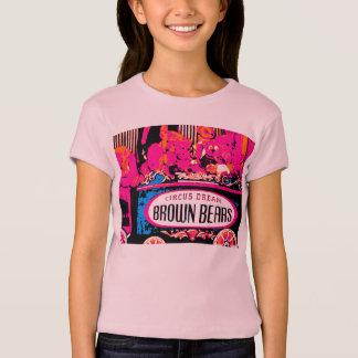 Pink teddy bear image girls T-shirt Part 1
