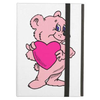 Pink Teddy Bear Cover For iPad Air