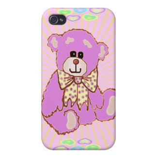 Pink Teddy Bear iPhone 4 Cover