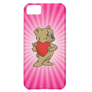 Pink Teddy Bear iPhone 5C Cases