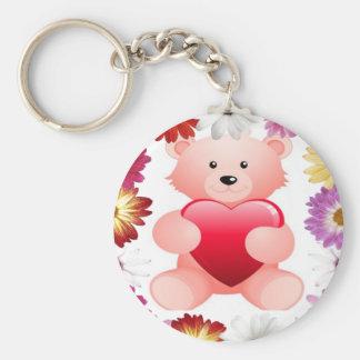 Pink Teddy Bear keychain