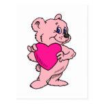 Pink Teddy Bear Post Card