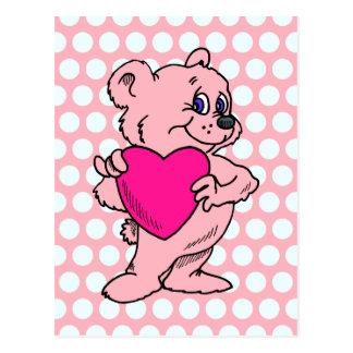 Pink Teddy Bear Postcard