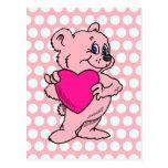 Pink Teddy Bear Postcards