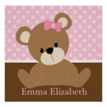 Pink Teddy Bear Print