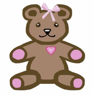 Pink teddy bear statuette