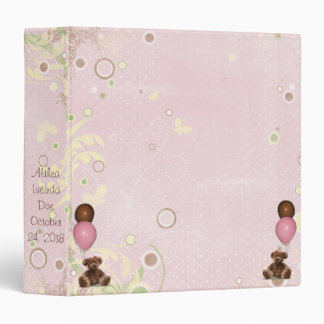 Pink Teddy Bears Balloon Scrapbook Photo Album Binder
