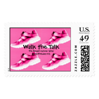 Pink Tennies Breast Cancer 3Day Stamp