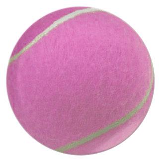 Pink Tennis Ball Plate