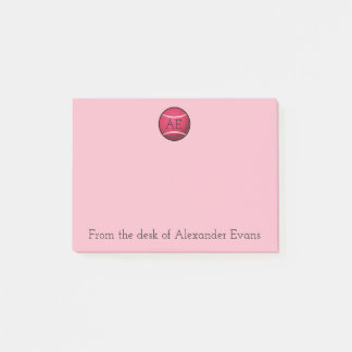 Pink Tennis Ball Post-it Notes